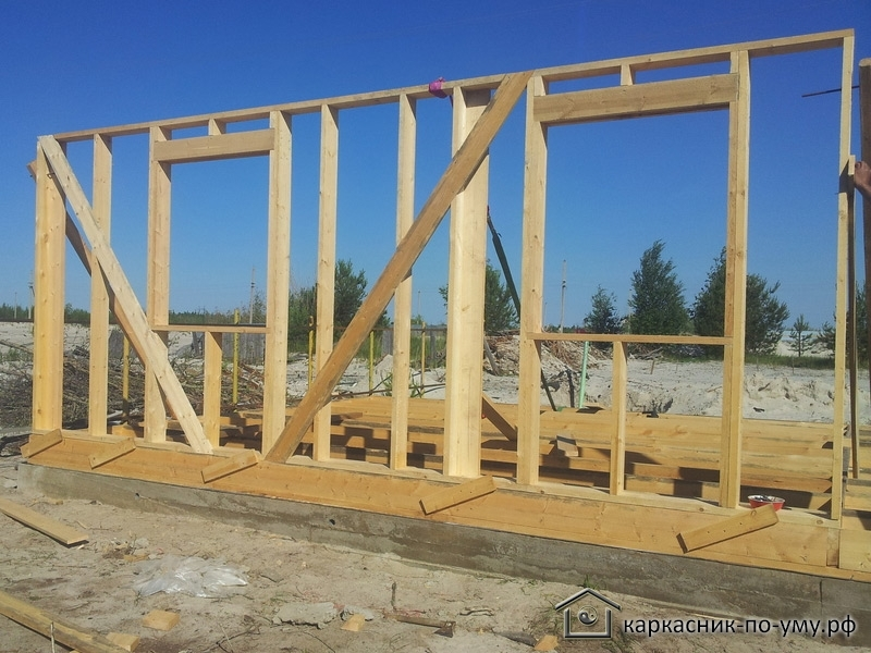 узлы каркасного деревянного дома
